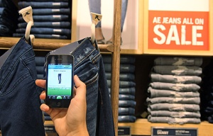 Shopkick guides you to an American eagle store