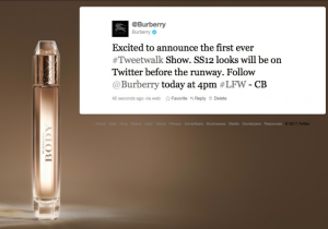 Burberry Tweetwalk